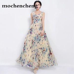 Chiffon Butterfly Maxi Dress